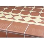 Victorian Red 146x146 mm Step Edge - Victorian Floor Tiles