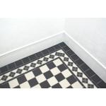 Clifton Corner Black And White - Victorian Floor Tiles