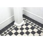 Clifton Border Black And White - Victorian Floor Tiles